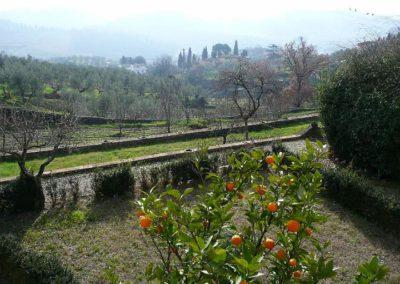 31 il Borgo uitzicht op tuin eigenaren winter