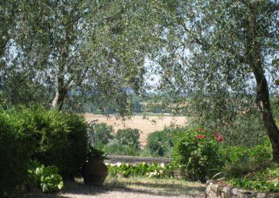 16 Podere Fulvia uitzicht tuin