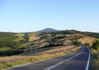 16 il Pratone weg door Val d'Orcia
