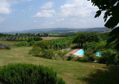 25 Montechiarone uitzicht van Montechiarone met zwembad
