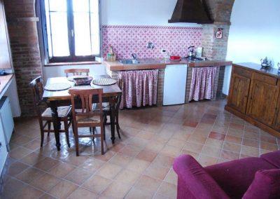 22 App 4 woonkamer keuken Agriturismo Silenzio