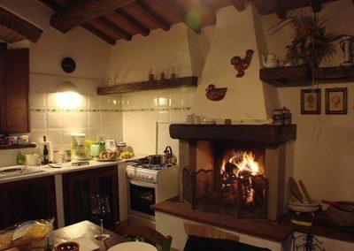 09 il Poggetto eetkeuken met haard